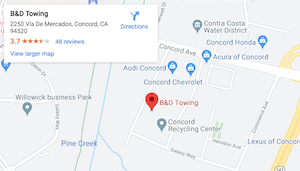 B&D Towing on Google Maps